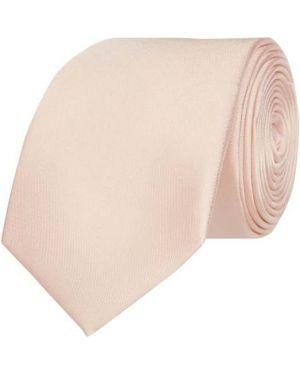 Pomarańczowy krawat z jedwabiu Monti