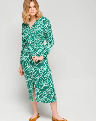 Повседневное зеленое платье-рубашка для офиса Must Have