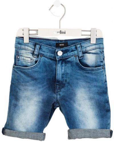 Niebieskie bermudy jeansowe Hugo Boss