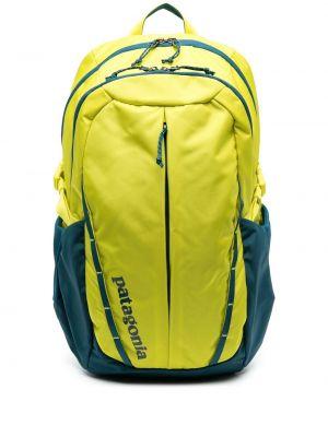 Żółty plecak z nylonu z printem Patagonia