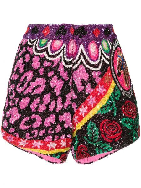 Нейлоновые шорты с потайной застежкой с пайетками Manish Arora