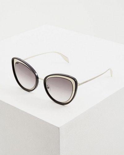 Солнцезащитные очки кошачий глаз черные Alexander Mcqueen