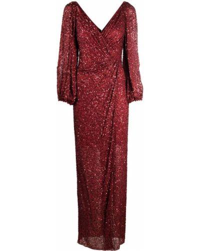 Sukienka z wiskozy z dekoltem w serek Jenny Packham