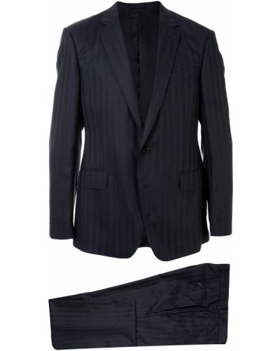Черный костюмный костюм классический на пуговицах узкого кроя Kent & Curwen