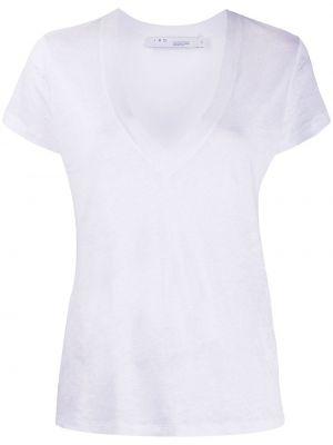 Прямая белая футболка с короткими рукавами Iro