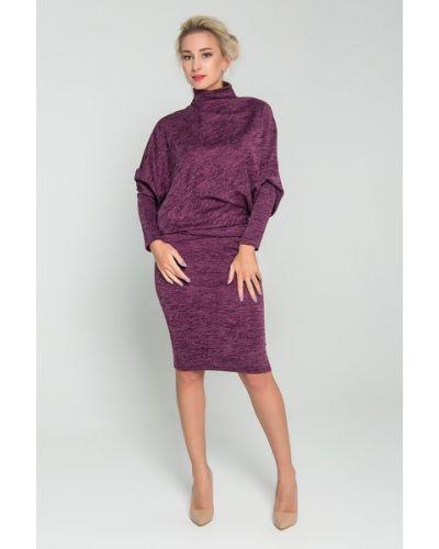 Повседневное с рукавами с заниженной талией повседневное платье с воротником Sezoni