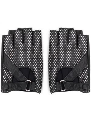 Перчатки без пальцев кожаные Karl Lagerfeld