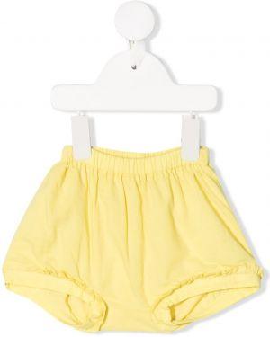 Желтые шорты Knot