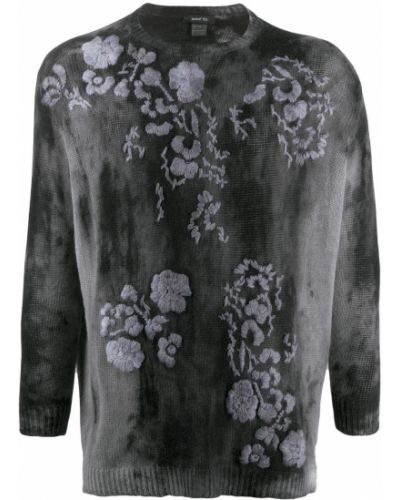 Кашемировый черный джемпер с вышивкой в рубчик Avant Toi