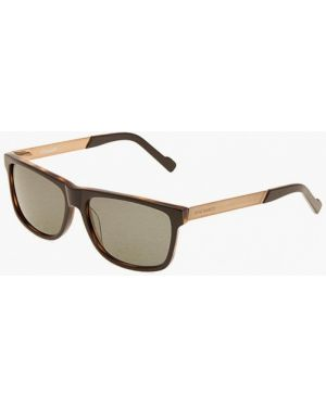 Коричневые солнцезащитные очки квадратные с завязками Enni Marco