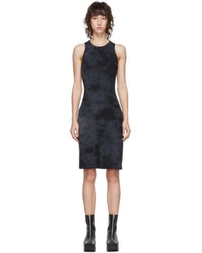 Хлопковое черное платье с воротником без рукавов Raquel Allegra