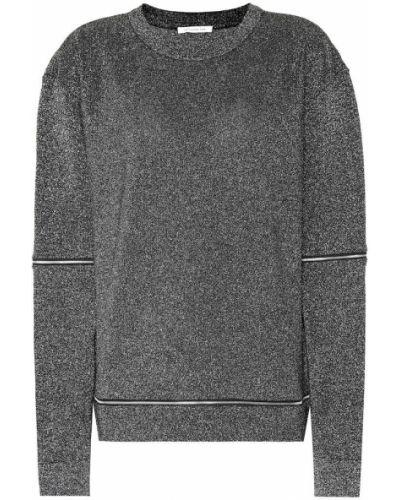 Czarny bluza z wiskozy Christopher Kane