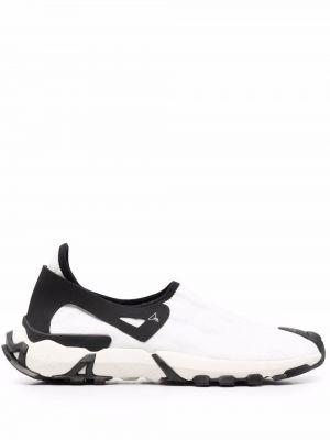 Gumowe białe sneakersy plaskie Roa