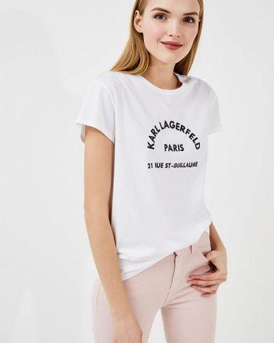 Белая футболка Karl Lagerfeld