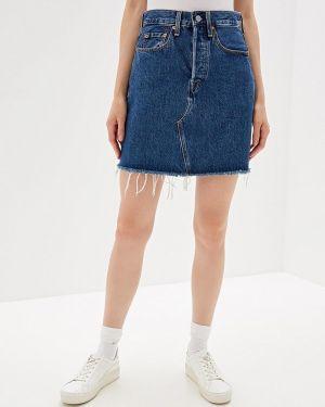 Джинсовая юбка синяя турецкий Levi's®