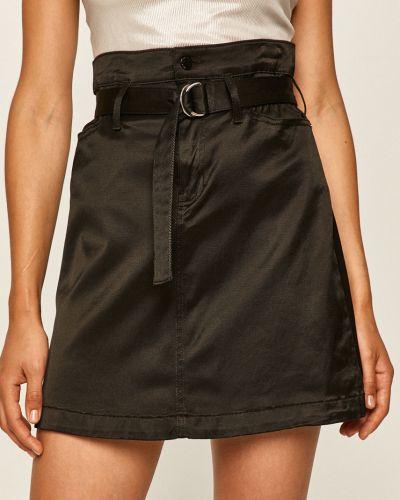 Czarna spódnica mini bawełniana na co dzień Guess