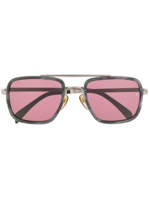 Czarne okulary srebrne David Beckham Eyewear
