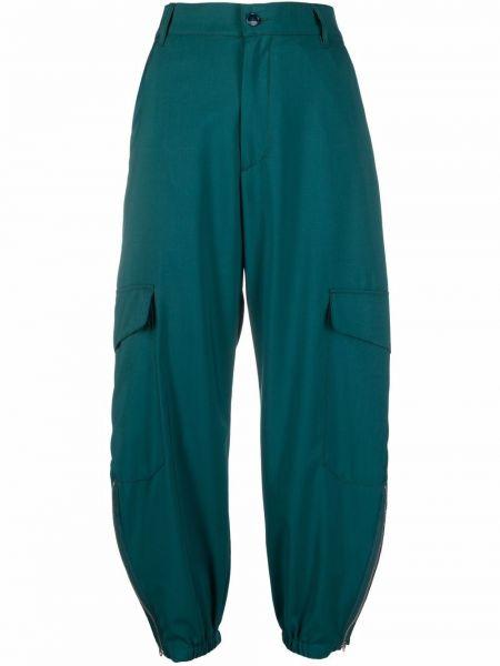 Zielone spodnie wełniane Barena