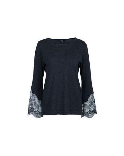 Шерстяная блузка - черная Clips