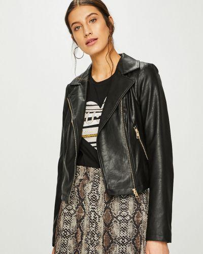 Кожаная куртка облегченная с карманами Liu Jo
