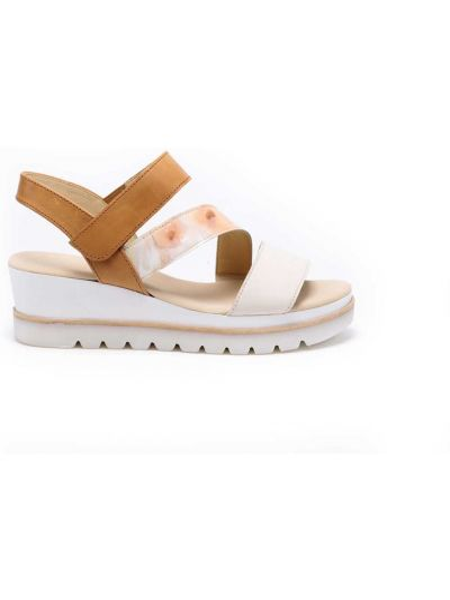 Beżowe sandały skorzane Gabor