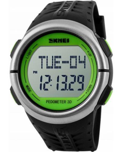 Zielony zegarek sportowy srebrny Skmei