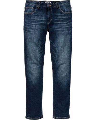 Темно-синие джинсы стрейч Bonprix