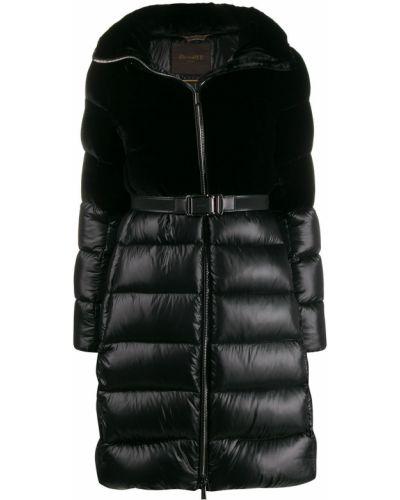 Черная длинная куртка Moorer