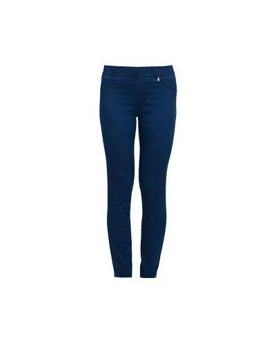 Синие хлопковые зауженные джинсы Baroni