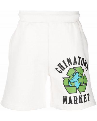 Białe szorty bawełniane Chinatown Market