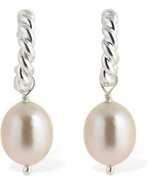 Kolczyki sztyfty perły srebrne Isabel Lennse