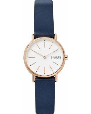 Niebieski złoty zegarek Skagen