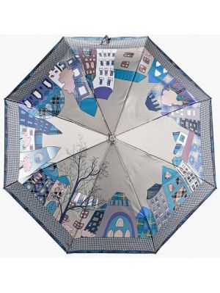 Зонт коричневый складной Fabretti