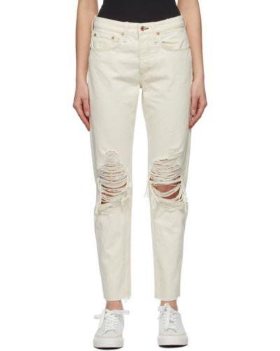 Białe jeansy z paskiem Rag & Bone