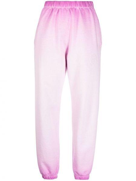 Хлопковые розовые брюки с карманами Opening Ceremony