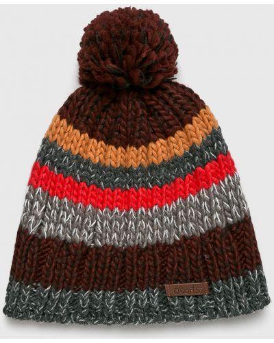 Зимняя шапка серая с помпоном Barts