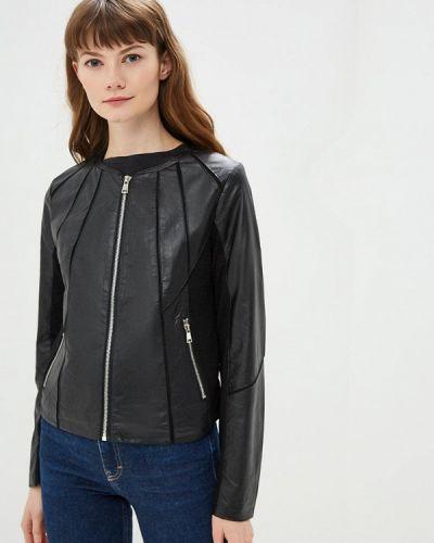 Кожаная куртка весенняя черная B.style