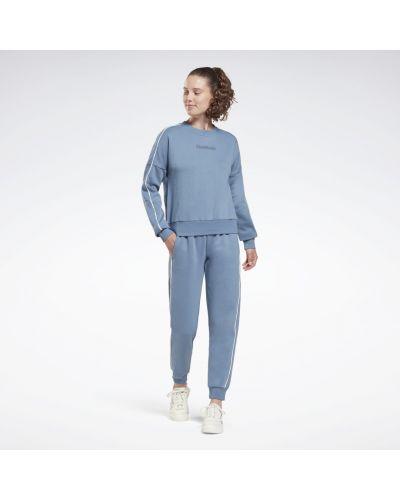 Зауженный спортивный костюм - синий Reebok