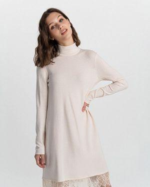 Платье осеннее бежевое Befree