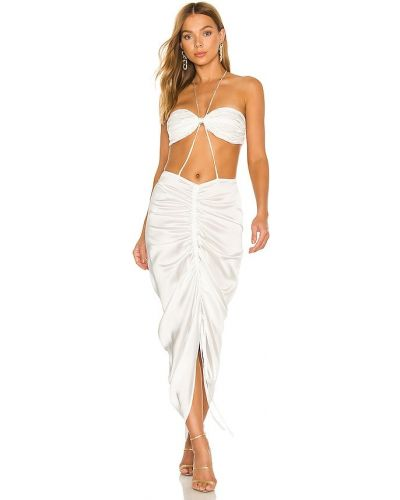 Шелковое платье - белое Bronx And Banco