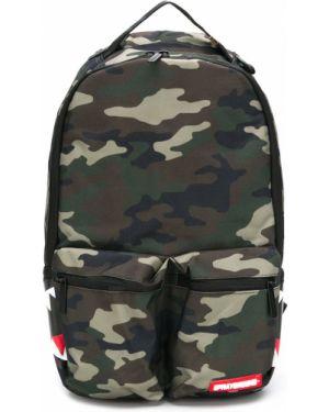 Зеленый рюкзак на бретелях на молнии с карманами Sprayground