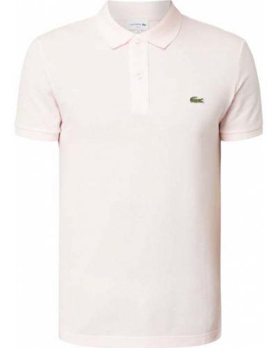 T-shirt bawełniana - różowa Lacoste