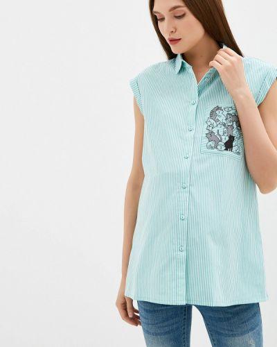 Блузка без рукавов зеленый Budumamoy