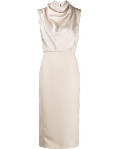 Платье приталенное бежевое Erika Cavallini