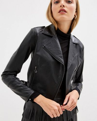 Кожаная куртка черная осенняя Pennyblack