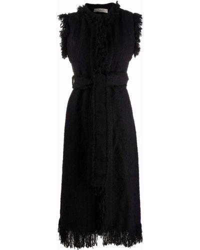 Черное пальто без рукавов Charlott