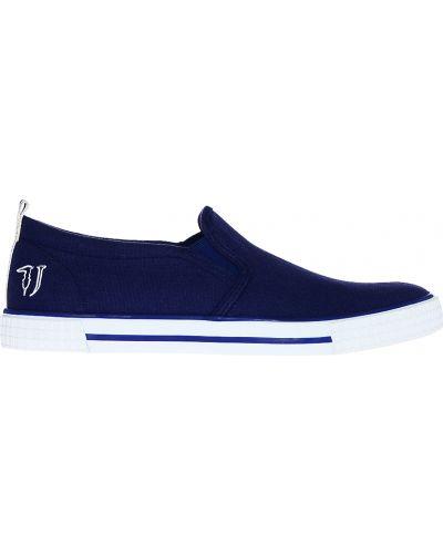 Синие слипоны Trussardi Jeans