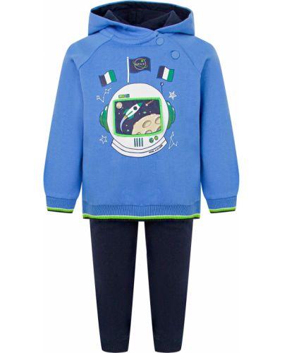Синий хлопковый спортивный костюм Mayoral