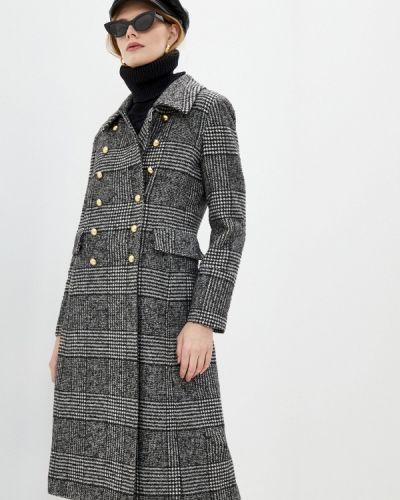 Серое пальто двубортное Blugirl Folies