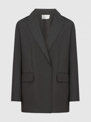 Шерстяной серый пиджак удлиненный The Row